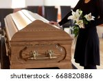 people and mourning concept  ... | Shutterstock . vector #668820886