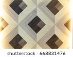 square pattern wood background | Shutterstock . vector #668831476