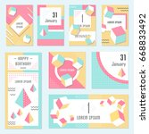 elegant modern flyers and cards ... | Shutterstock . vector #668833492