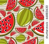 watermelon seamless | Shutterstock .eps vector #66883630