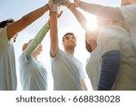 volunteering  charity  people ... | Shutterstock . vector #668838028