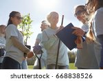 volunteering  charity  people... | Shutterstock . vector #668838526