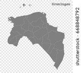 high quality map of groningen... | Shutterstock .eps vector #668848792