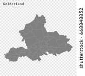 high quality map of gelderland... | Shutterstock .eps vector #668848852