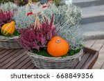 Baskets With Pumpkin And...