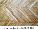 wood parquet texture.... | Shutterstock . vector #668852182