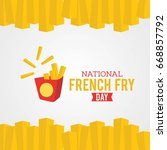 national french fry day vector... | Shutterstock .eps vector #668857792