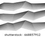 white black color. linear... | Shutterstock .eps vector #668857912