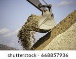A Large Iron Excavator Bucket...