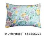 closeup of a bamboo pillow on... | Shutterstock . vector #668866228