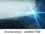 a conceptual image with a... | Shutterstock . vector #668867788