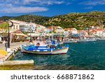 samos island  greece   may 22 ... | Shutterstock . vector #668871862