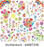 flowers set | Shutterstock .eps vector #66887248