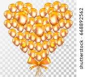 bunch of realistic golden... | Shutterstock .eps vector #668892562