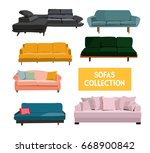 vector interior design elements ... | Shutterstock .eps vector #668900842
