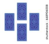 four tarot card spread. reverse ...   Shutterstock .eps vector #668906008