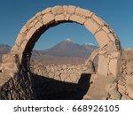 licancabur volcano  atacama ...   Shutterstock . vector #668926105