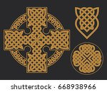 vector celtic cross. ethnic... | Shutterstock .eps vector #668938966