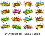 Comic Style Speech Bubbles With ...