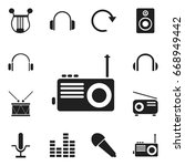 set of 12 editable audio icons. ...