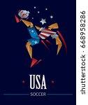 soccer player character art ... | Shutterstock .eps vector #668958286