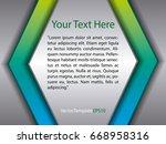 template silver  blue  green...   Shutterstock .eps vector #668958316