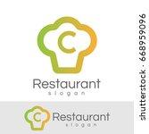 restaurant initial letter c... | Shutterstock .eps vector #668959096