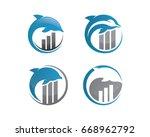 dolphin invest logo design | Shutterstock . vector #668962792