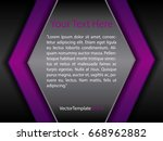 template black  purple and...   Shutterstock .eps vector #668962882