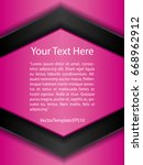template pink  black and white...   Shutterstock .eps vector #668962912