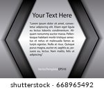 template black  silver and...   Shutterstock .eps vector #668965492