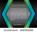 template black  blue  green and ...   Shutterstock .eps vector #668966086