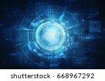 2d illustration network... | Shutterstock . vector #668967292