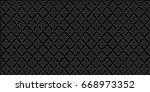 vector line thai  the arts of... | Shutterstock .eps vector #668973352