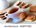 table set for high tea with... | Shutterstock . vector #66897481