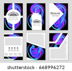 abstract vector layout... | Shutterstock .eps vector #668996272
