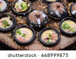 vietnamese small rice pancake   ... | Shutterstock . vector #668999875