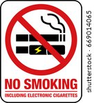 no smoking including electronic ... | Shutterstock .eps vector #669014065
