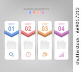 infographic template of four... | Shutterstock .eps vector #669017212