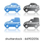 illustration of  car. | Shutterstock .eps vector #66902056