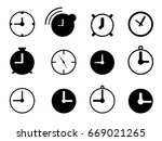 set of simple clock icon | Shutterstock .eps vector #669021265