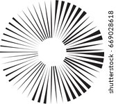 lines in circle form . vector... | Shutterstock .eps vector #669028618