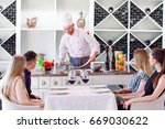 the chef prepares the paste for ... | Shutterstock . vector #669030622