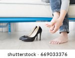 woman athlete foot close up... | Shutterstock . vector #669033376