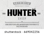 font.alphabet.script.typeface... | Shutterstock .eps vector #669042256