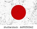 japan flag grunge background.... | Shutterstock . vector #669050362