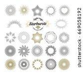 rays and starburst design... | Shutterstock .eps vector #669058192