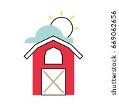 farm stable building icon | Shutterstock .eps vector #669062656