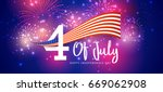 happy 4th of july usa... | Shutterstock .eps vector #669062908