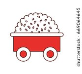 farm wagon with straw | Shutterstock .eps vector #669064645